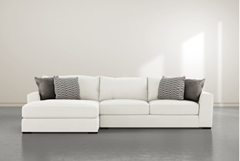 """Delano Pearl 2 Piece 125"""" Sectional With Left Arm Facing Chaise"""