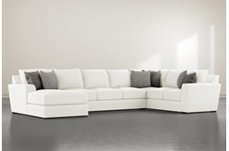"""Delano Pearl 3 Piece 169"""" Sectional With Left Arm Facing Chaise"""