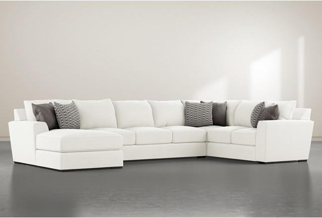"""Delano Pearl 3 Piece 169"""" Sectional With Left Arm Facing Chaise - 360"""