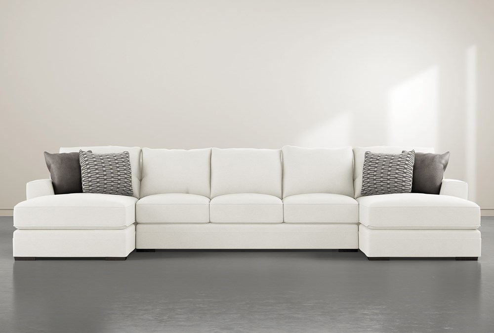 Delano Pearl 3 Pc Sectional With Double Chaise