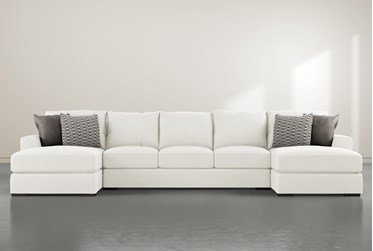 """Delano Pearl 3 Piece 169"""" Sectional With Double Chaise"""
