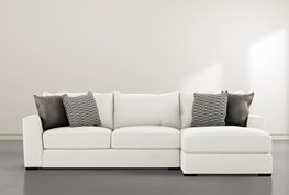 """Delano Pearl 2 Piece 125"""" Sectional With Right Arm Facing Chaise"""