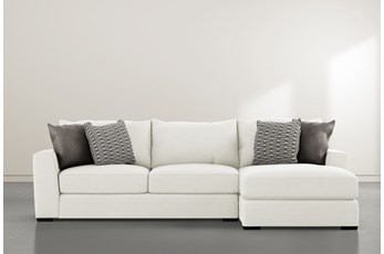 "Delano Pearl 2 Piece 125"" Sectional With Right Arm Facing Chaise"