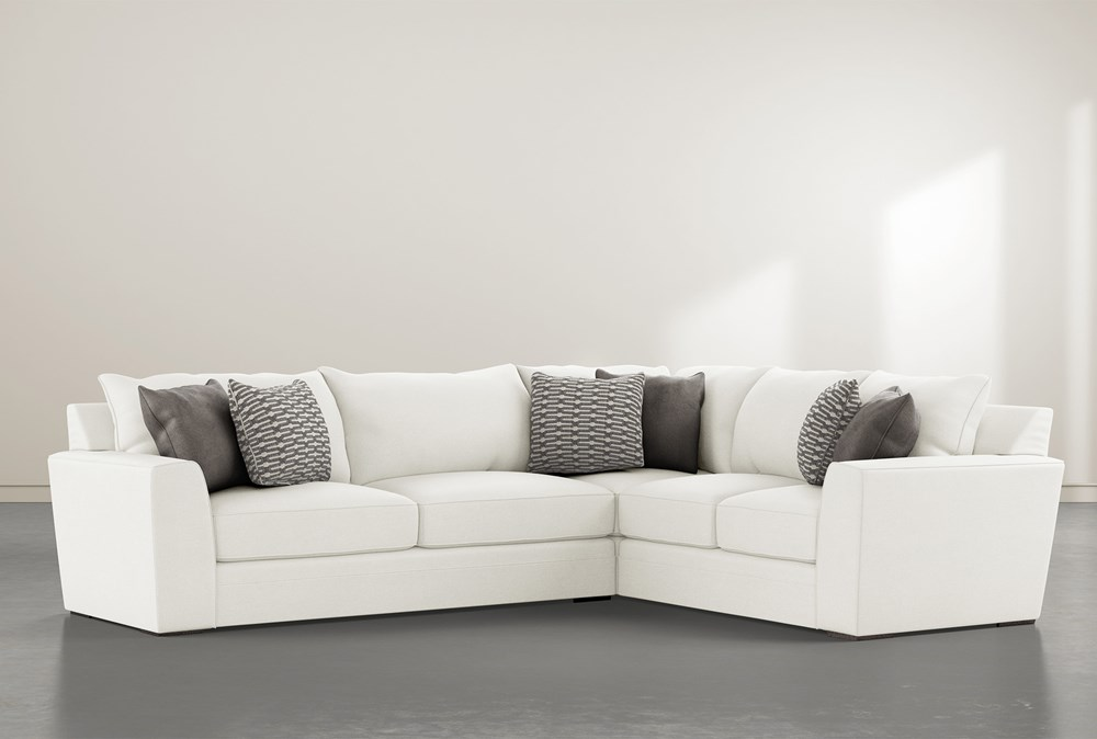 """Delano Pearl 2 Piece 125"""" Sectional With Left Arm Facing Sofa"""