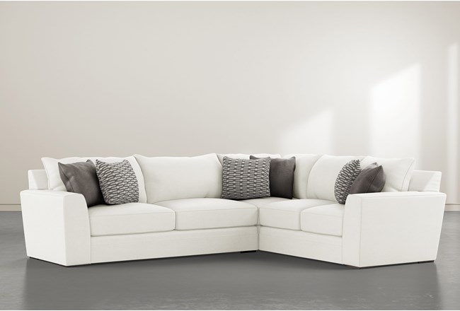 """Delano Pearl 2 Piece 125"""" Sectional With Left Arm Facing Sofa - 360"""
