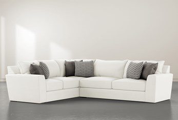 """Delano Pearl 2 Piece 125"""" Sectional With Right Arm Facing Sofa"""
