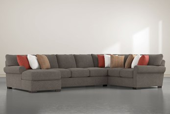 """Aurora II 3 Piece 165"""" Sectional With Left Arm Facing Chaise"""