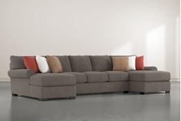 """Aurora II 3 Piece 159"""" Sectional With Double Chaise"""