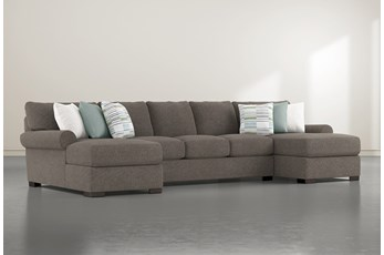 "Aurora II 3 Piece 159"" Sectional With Double Chaise"