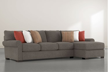 """Aurora II 2 Piece 131"""" Sectional With Right Arm Facing Chaise"""