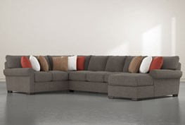 """Aurora II 3 Piece 165"""" Sectional With Right Arm Facing Chaise"""
