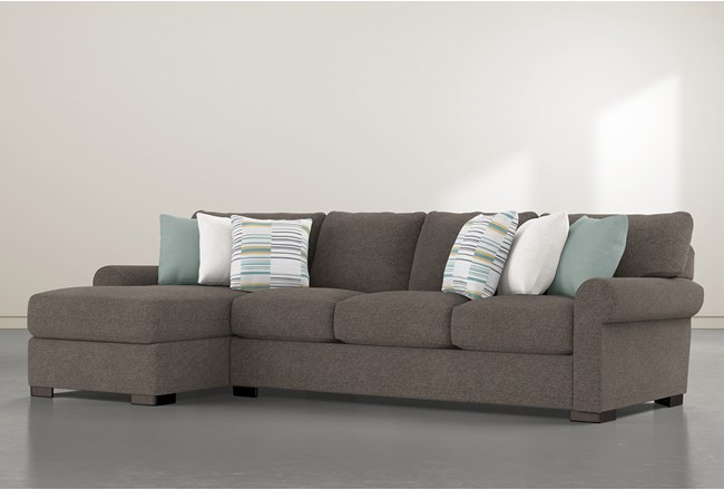 """Aurora II 2 Piece 131"""" Sectional With Left Arm Facing Chaise - 360"""