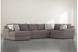 Delano Charcoal 3 Piece Sectional With Left Arm Facing Chaise