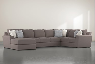 """Delano Charcoal 3 Piece 169"""" Sectional With Left Arm Facing Chaise"""