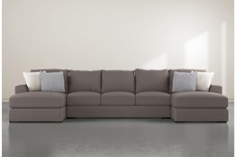 Delano Charcoal 3 Pc Sectional With Double Chaise