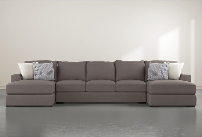 Delano Charcoal 3 Pc Sectional With Double Chaise - 360