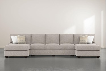 """Harper Down II 3 Piece 156"""" Sectional With Double Chaise"""