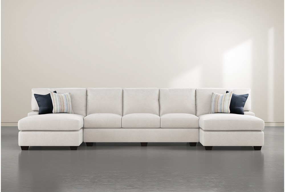 """Harper Foam II 3 Piece 156"""" Sectional With Double Chaise"""