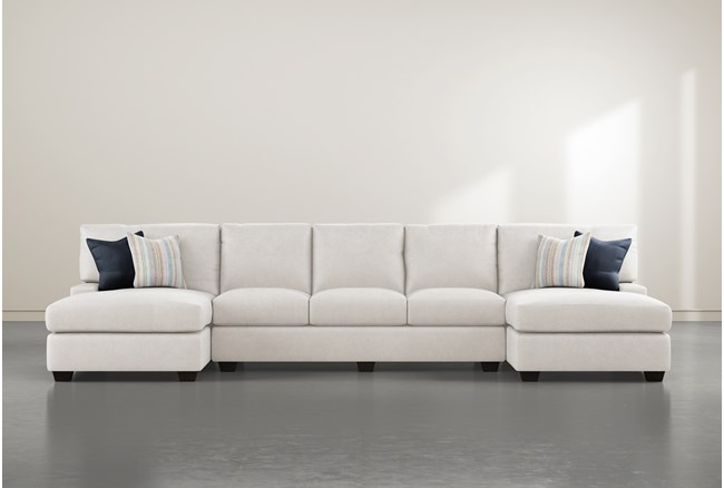 """Harper Foam II 3 Piece 156"""" Sectional With Double Chaise - 360"""