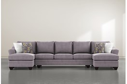 Mesa Foam II 3 Piece Sectional With Double Chaise