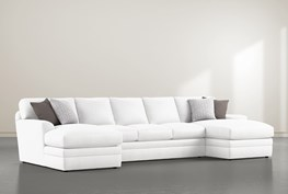 """Prestige Down 3 Piece 156"""" Sectional With Double Chaise"""
