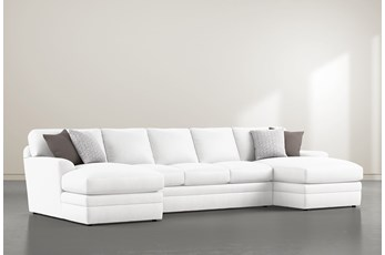 Prestige Down 3 Piece Sectional With Double Chaise