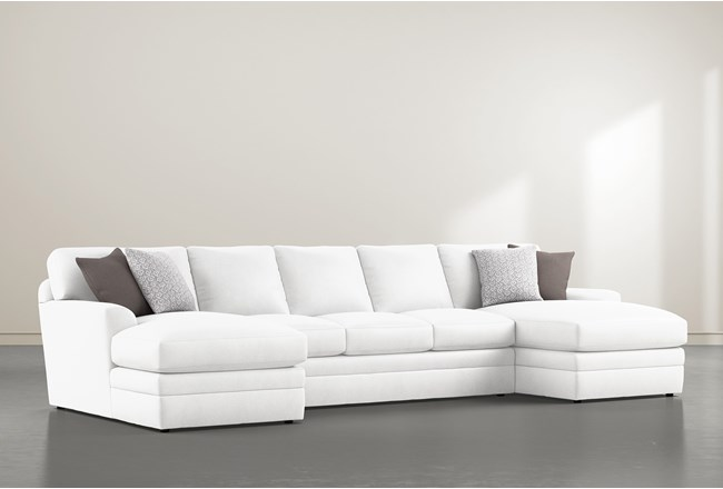 """Prestige Down 3 Piece 156"""" Sectional With Double Chaise - 360"""