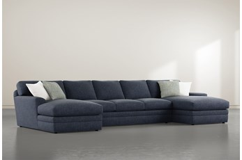 "Prestige Foam 3 Piece 156"" Sectional With Double Chaise"
