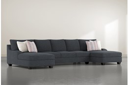 Sierra Down III 3 Piece Sectional With Double Chaise