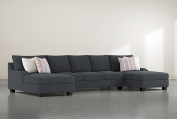 """Sierra Down III 3 Piece 156"""" Sectional With Double Chaise"""