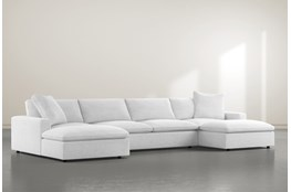 Utopia 3 Piece Sectional With Double Chaise