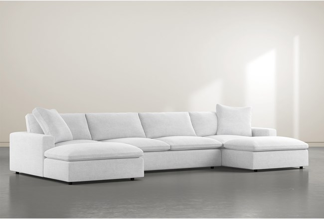 Utopia 3 Piece Sectional With Double Chaise - 360