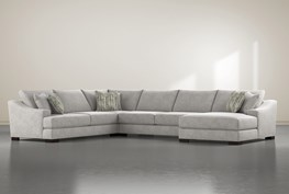 """Lodge Fog 4 Piece 178"""" Sectional With Right Arm Facing Chaise"""