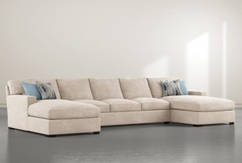 """Mercer Foam III 3 Piece 156"""" Sectional With Double Chaise"""