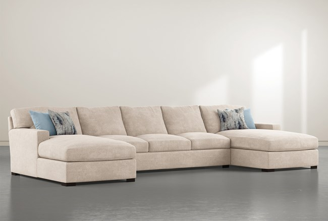 """Mercer Foam III 3 Piece 156"""" Sectional With Double Chaise - 360"""