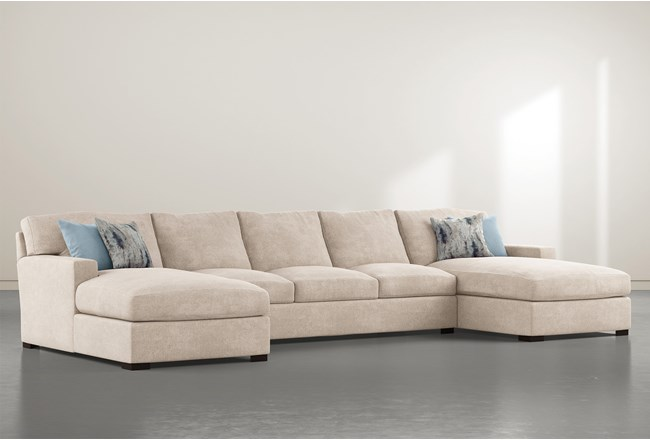 "Mercer Foam III 3 Piece 156"" Sectional With Double Chaise - 360"