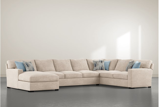 """Mercer Foam III 3 Piece 156"""" Sectional With Left Arm Facing Chaise - 360"""