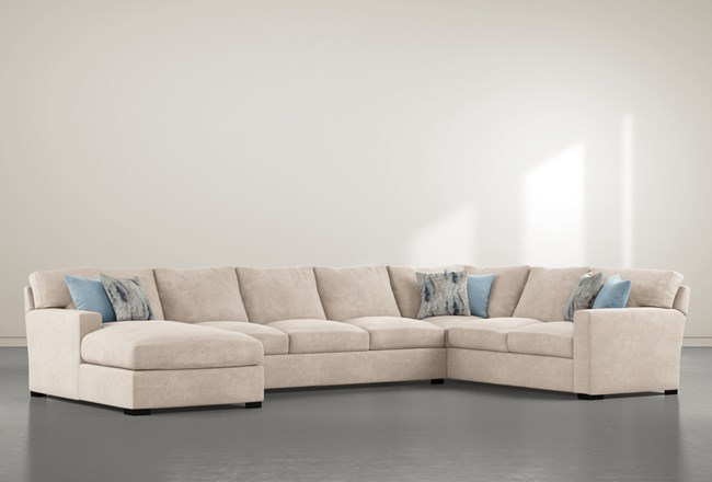 Mercer Foam III 3 Piece Sectional With Left Arm Facing Chaise - 360