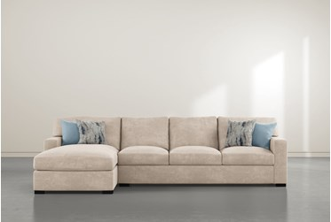 """Mercer Foam III 2 Piece 125"""" Sectional With Left Arm Facing Chaise"""
