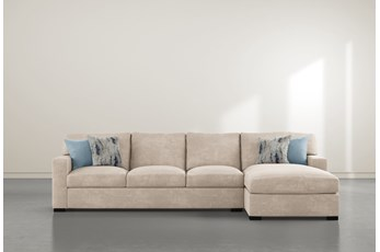"Mercer Foam III 2 Piece 125"" Sectional With Right Arm Facing Chaise"
