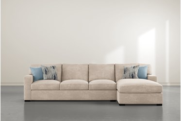 """Mercer Foam III 2 Piece 125"""" Sectional With Right Arm Facing Chaise"""