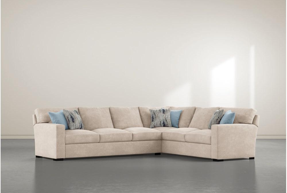 "Mercer Foam III 2 Piece 130"" Sectional With Left Arm Facing Sofa"