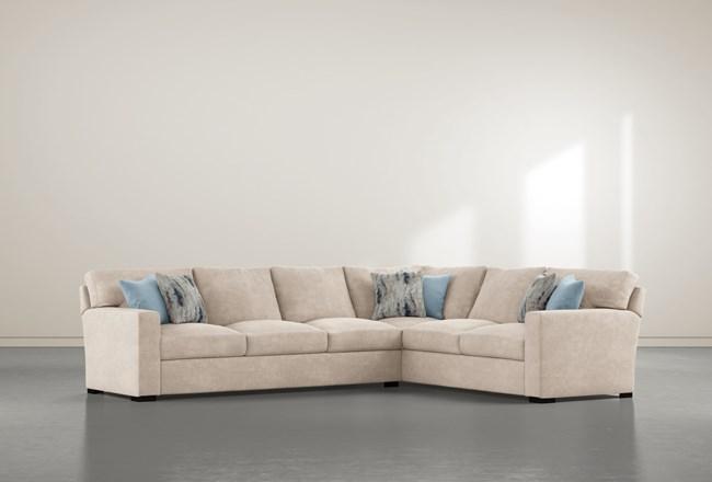 "Mercer Foam III 2 Piece 130"" Sectional With Left Arm Facing Sofa - 360"