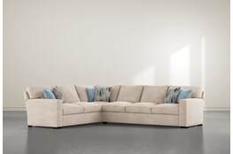 "Mercer Foam III 2 Piece 130"" Sectional With Right Arm Facing Sofa"