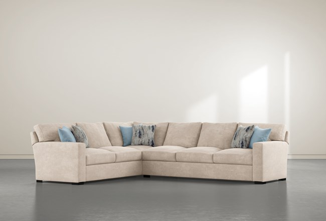 """Mercer Foam III 2 Piece 130"""" Sectional With Right Arm Facing Sofa - 360"""