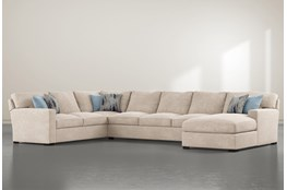 "Mercer Foam III 3 Piece 156"" Sectional With Right Arm Facing Chaise"