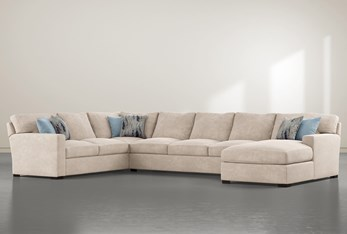 """Mercer Foam III 3 Piece 156"""" Sectional With Right Arm Facing Chaise"""