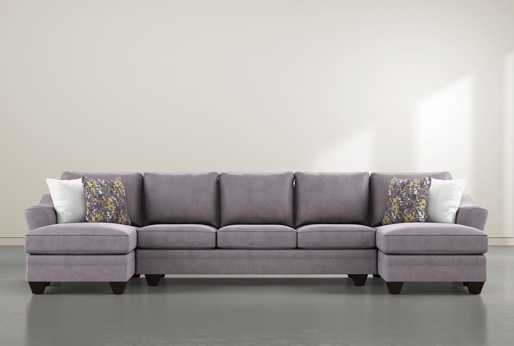Mesa Down II 3 Piece Sectional With Double Chaise