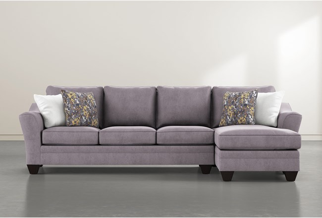 """Mesa Down II 2 Piece 124"""" Sectional With Right Arm Facing Chaise - 360"""