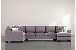 "Mesa Down II 3 Piece 157"" Sectional With Right Arm Facing Chaise"